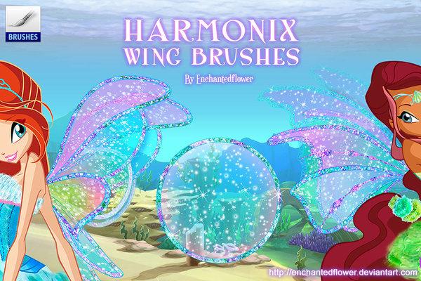 Harmonix Wing Photoshop Brushes