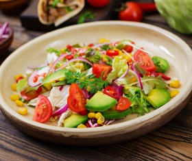 Healthy mix of vegetables salads Stock Photo 01