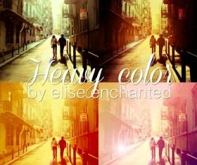 Heavy color Photoshop Action