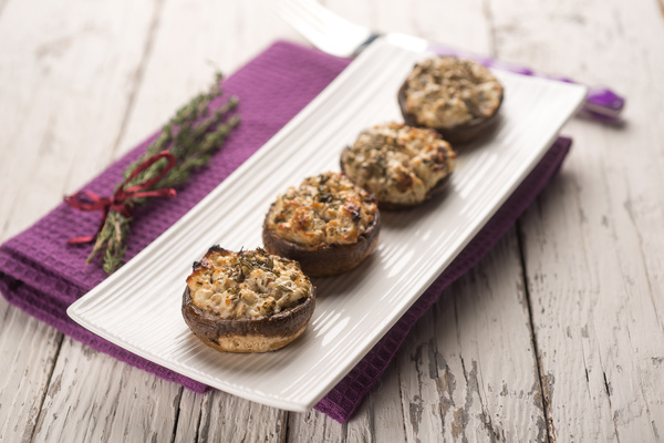 Home oven gourmet grilled mushrooms Stock Photo 02