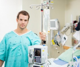 Hospitalized male patients Stock Photo 01