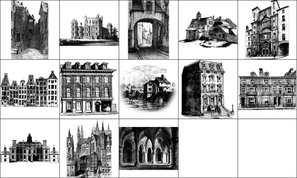 Houses and buildings Photoshop Brushes