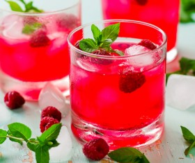 Ice Raspberry drink Stock Photo 02