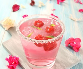 Ice Raspberry drink Stock Photo 03