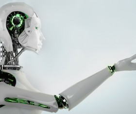 Imitation human intelligent robot Stock Photo 01