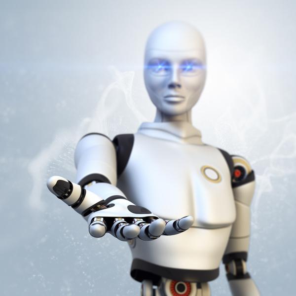 Imitation human intelligent robot Stock Photo 02
