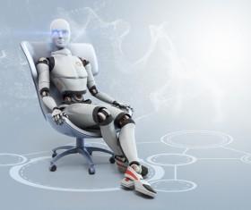 Imitation human intelligent robot Stock Photo 03