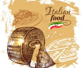 Italian food vintage poster vector 02