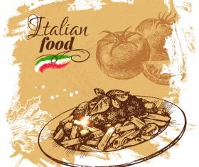 Italian food vintage poster vector 03