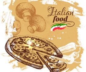 Italian food vintage poster vector 04