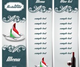 Italian restaurant menu template vectors 01
