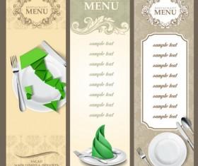 Italian restaurant menu template vectors 02