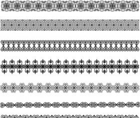 Lace seamless border vectors