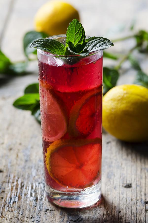 Lemon Cold iced tea Stock Photo 03