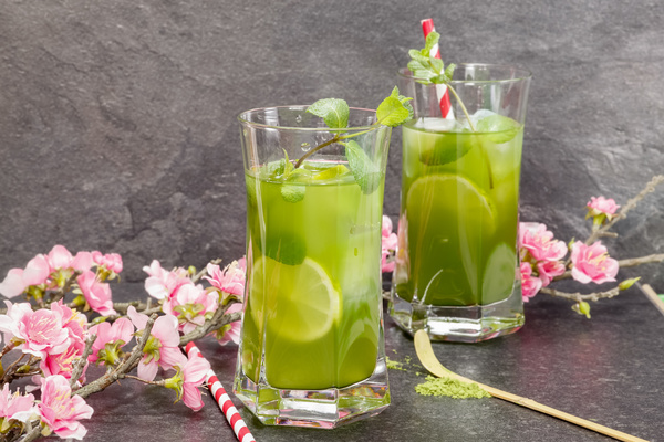 Lemon Cold iced tea Stock Photo 05