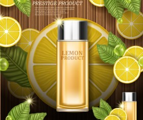 Lemon cosmetic advertising poster vector