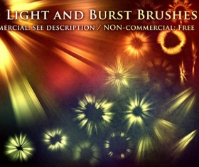 Light and burst photoshop brushes set