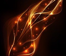 Light effect lines wave vector background