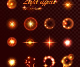 Light effect vector illustration set