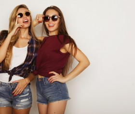 Lively and lovely girls Stock Photo 03