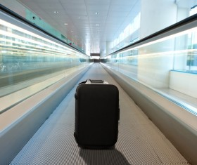 Luggage on the channel Stock Photo