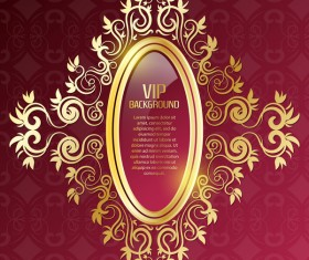 Luxury VIP red background vector
