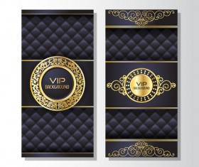 Luxury VIP vertical card template vector 02
