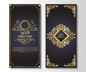 Luxury VIP vertical card template vector 03
