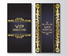 Luxury VIP vertical card template vector 04