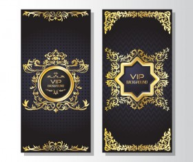 Luxury VIP vertical card template vector 05