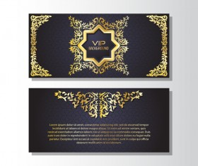 Luxury golden VIP brochure cover template vectors 07