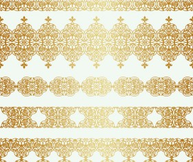 Luxury golden seamless borders vector 01
