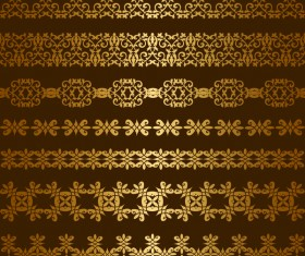 Luxury golden seamless borders vector 02