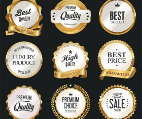 Luxury white labels vector illustration set 3