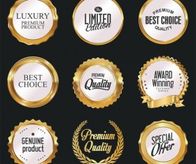 Luxury white labels vector illustration set 4