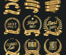 Luxury white labels vector illustration set 6