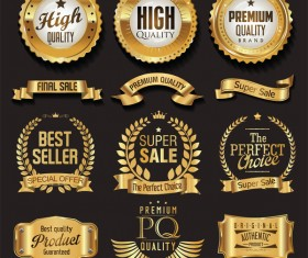 Luxury white labels vector illustration set 8