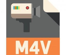 M4V Flat Icon