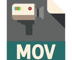 MOV Flat Icon