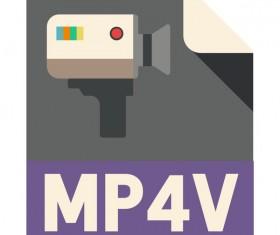 MP4V Flat Icon