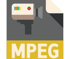 MPEG Flat Icon