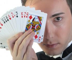 Magician Poker Juggling Stock Photo 01