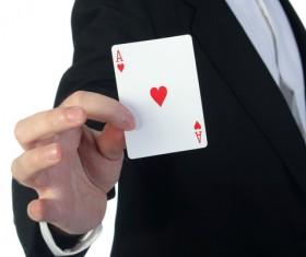Magician Poker Juggling Stock Photo 02