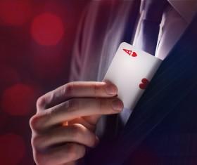 Magician Poker Juggling Stock Photo 03