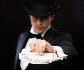 Magician Poker Juggling Stock Photo 04