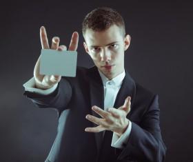 Magician Poker Juggling Stock Photo 05