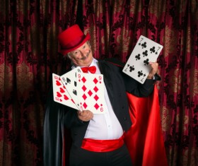 Magician Poker Juggling Stock Photo 06