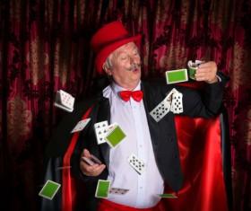 Magician Poker Juggling Stock Photo 07