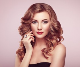Makeup woman pose Stock Photo