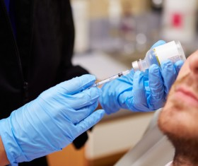 Male non-invasive cosmetic botulinum injection Stock Photo 02
